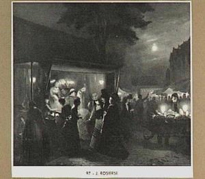 Markttafereel bij avond