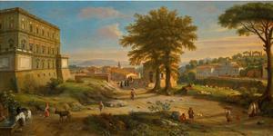 Landschap met de villa Farnese at Caprarola