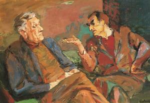 Portret van Otto Herbert Fiedler (1891-1962) en Charles Frederick Roelofsz (1897-1962)