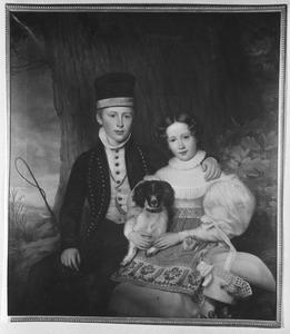 Dubbelportret van prins Hendrik (1820-1879) en prinses Sophie van Oranje-Nassau (1824-1897)