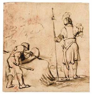 David toont Saul's spies en waterkruik