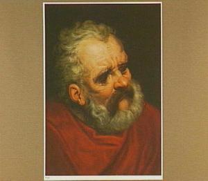 Hoofd van een oude man met baard (voorstudie voor een apostel)
