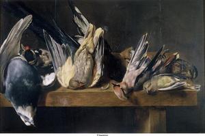 Jachtbuit met klein gevogelte