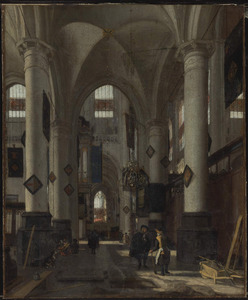 Interieur van een Protestantse kerk