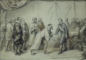 Ongeïdentificeerde historische scène