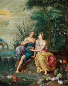 Allegorie van water en aarde
