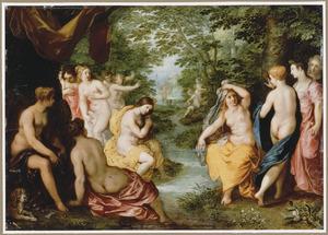 Diana en haar nimfen bespied door Actaeon