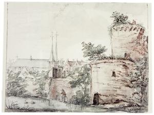Deventer met in de achtergrond de Bergkerk