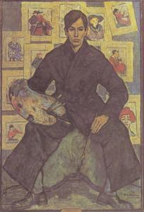 Zelfportret in het atelier