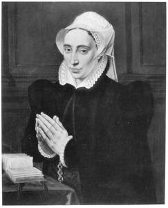 Portret van Maria de Deckere in gebed