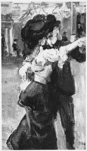 Danspaar in Moulin de la Galette