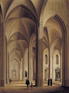 Interieur van een gothische kerk
