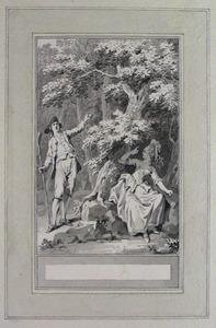 Illustratie bij 'De geheimhouding' uit de Fabelen en vertelsels van F.C. Gellert