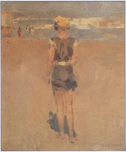 Baadster op het strand van Scheveningen