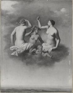 Juno, Minerva en Venus met Cupido