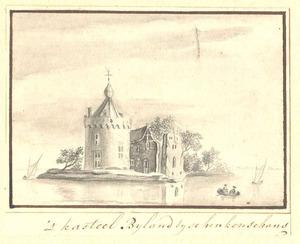 Kasteel Bylandv (ook Huis Halt) aan de Rijn bij Kleef