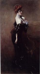 Portret van Madame Pagès (?-?) in avondkleding