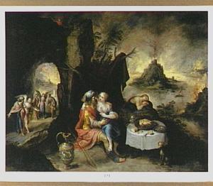 Lot door zijn dochters dronken gemaakt (Genesis 19:30-38)