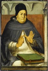 De H. Thomas van Aquino (1225-1274) uit de serie 'Beroemde Mannen'