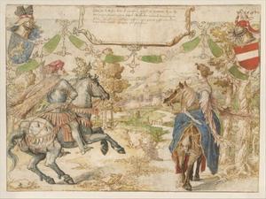 Dubbelportret van Otto II Nassau-Dillenburg (?-1350) en Adelheid van Vianen (?-?)