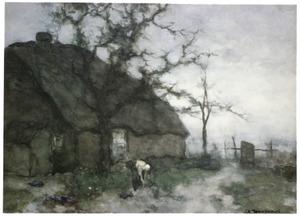 Boerin en boerderij bij Noorden
