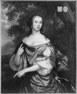 Portret van een jonge vrouw uit de familie De Haze, waarschijnlijk Anna de Haze (1646 - 1676)