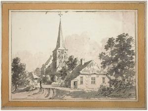 Brummen, gezicht in het dorp met de kerk