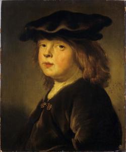 Portret van een jongetje met baret