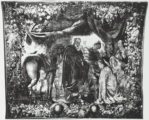 Alexander de Grote en Hephaestion voor de familie van Darius