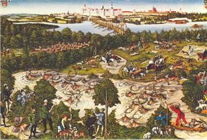 Keurvorst Johann Friedrich Johann van Saksen op hertenjacht