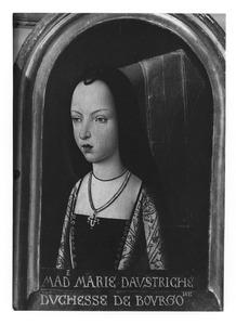 Portret van Maria, hertogin van Bourgondië