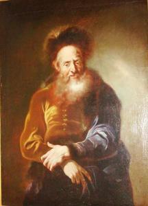 Portret van een oude Poolse man met bont