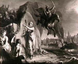 Andromeda aan de rots gekluisterd (Allegorie op de bevrijding van de Noordelijke Nederlanden)