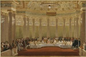 Banket in de Tuilerieën ter gelegenheid van het huwelijk van Napoleon 1 met Marie-Louise op 2 april 1810