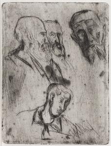 Oude man met baard en jonge man
