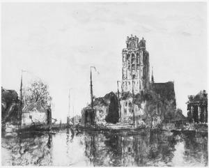 Dordrecht: Gezicht op de Grote Kerk