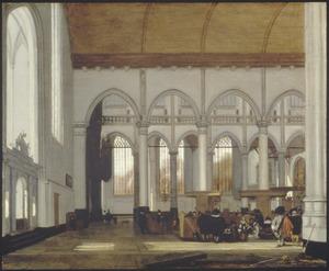 Interieur van de Oude Kerk in Amsterdam
