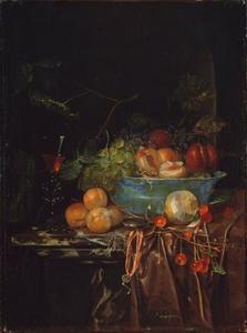 Fruitstilleven met horloge