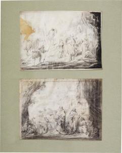 David toont de afgesneden slip van Saul's mantel