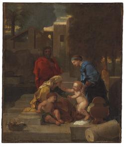 De Heilige Familie  met St. Elizabeth en Johannes de doper