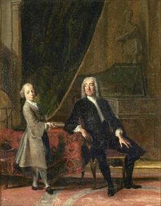 Dubbelportret van een onbekende man en een jongen