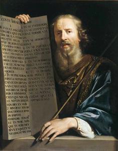 Mozes toont de Tafelen der Wet