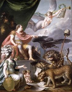 Allegorie op de Vierde Engelse Oorlog (1780-1784)