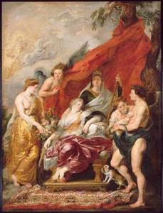 De geboorte van Lodewijk XIII te Fontainebleau, 27 september 1601