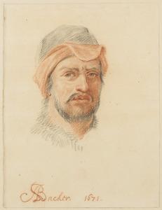 Zelfportret van de schilder Adriaen Backer (1635-1684)