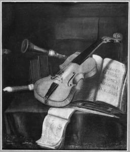 Stilleven met muziekinstrumenten