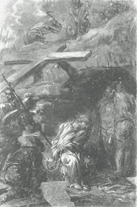 Christus in doodsangst wachtend om te worden gekruisigd