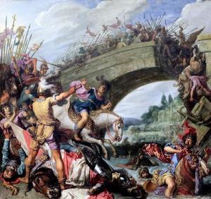 De slag tussen Constantijn en Maxentius