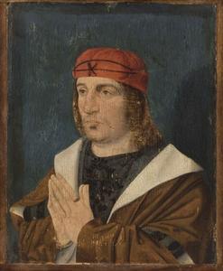 Portret van een biddende man