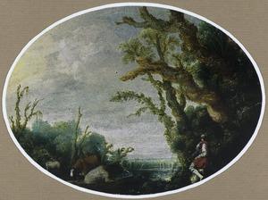 Landschap met herder en vee, mogelijk Argus en Io
